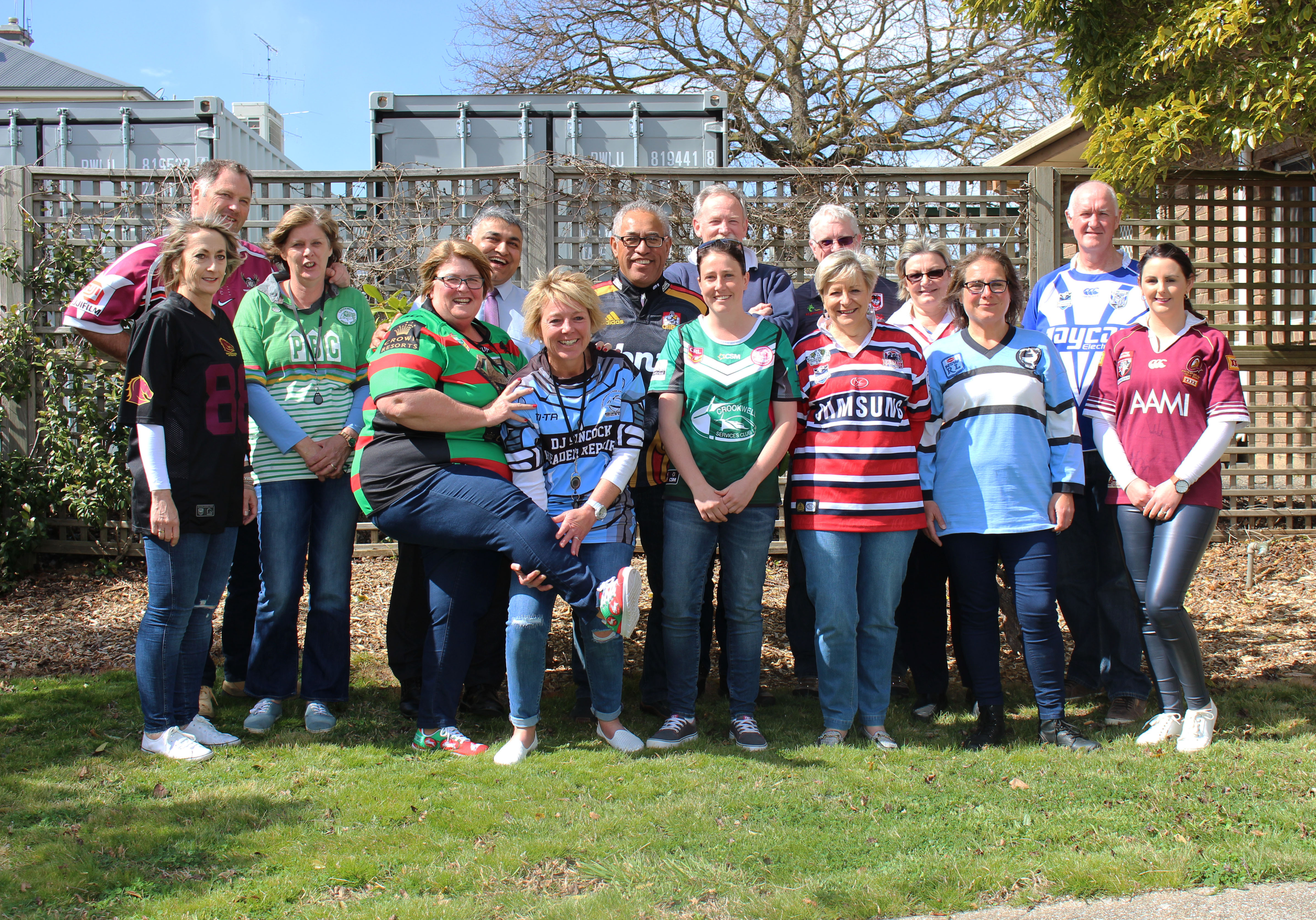 Council staff joined in Footy Colours Day this week to raise money for the Fight Cancer Foundation.