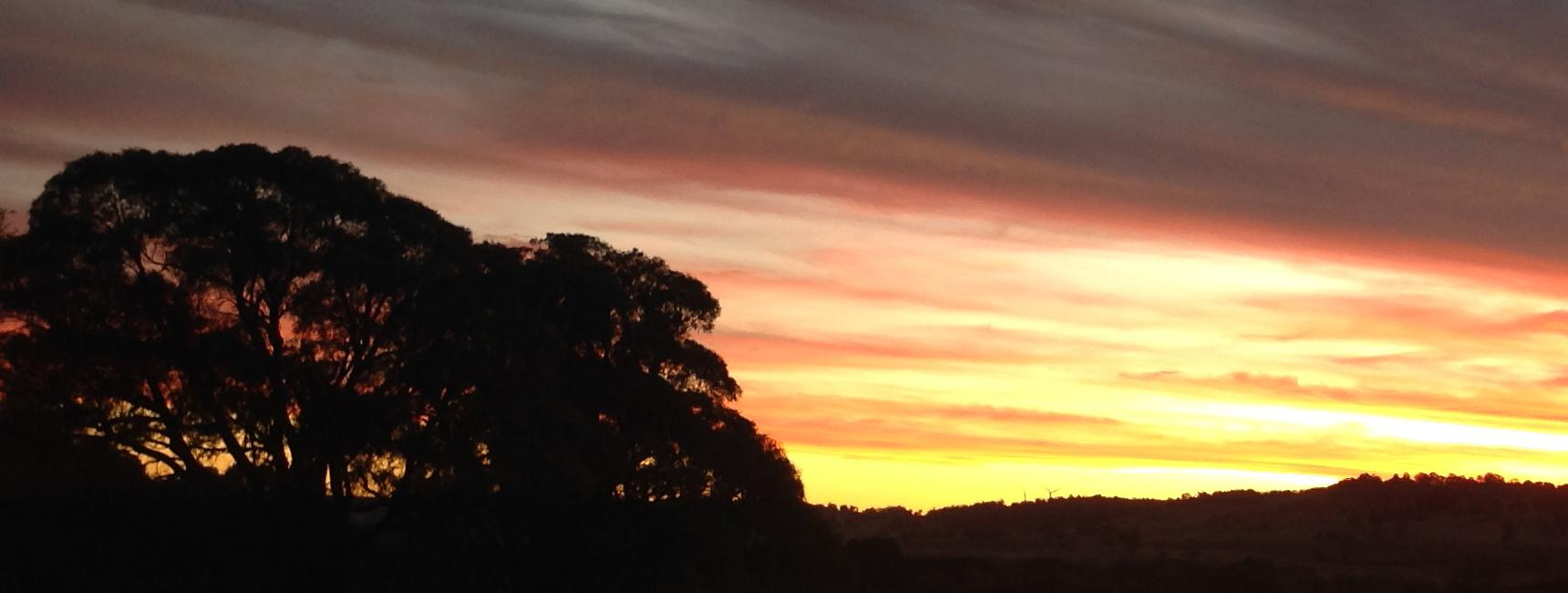 Sunset in Upper Lachlan