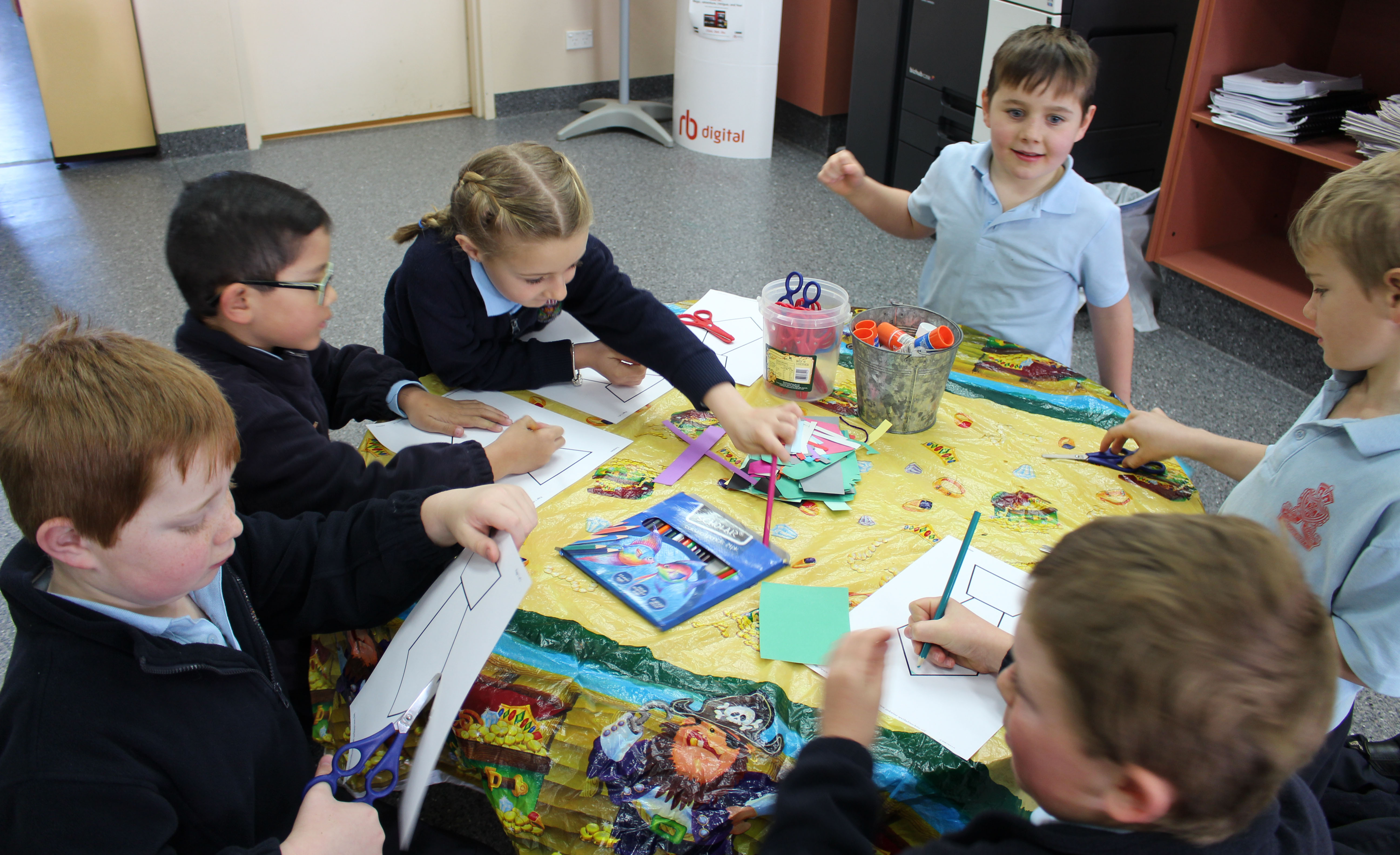 Students from Crookwell Public School's class 2H complete a craft activity at Crookwell Library.